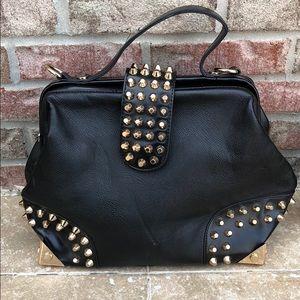 Handbags - Doctor handbag gold studded funky bag